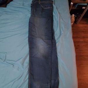 Levi's 502 blue jeans slight fade 38×32